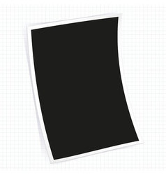 Instant photo frame vector image vector image