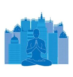 urban yoga vector image vector image