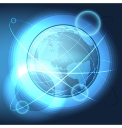 Blue Globe in the Space vector image vector image