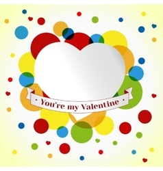 Card Valentin day vector image