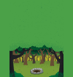 forest day poster vector image