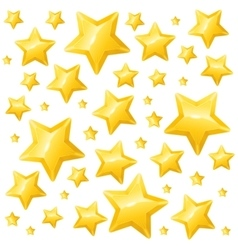 Golden Star Background Wallpaper or Card vector image
