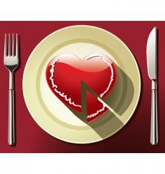 heart slice vector image