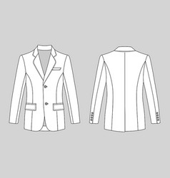 mans buttoned jacket vector image vector image