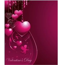 valentine greeting card banners vector image