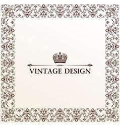 vector vintage royal retro frame ornament vector image vector image