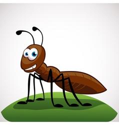 Ant cartoon character vector image