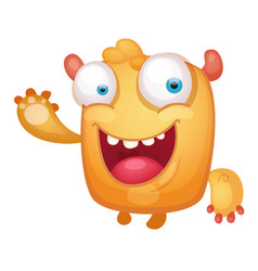 cartoon cute monster vector image
