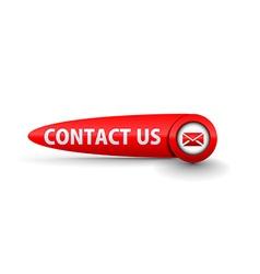 contact us icon design vector image vector image