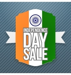 India independence day sale badge vector