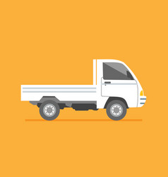 isolated side view small delivery truck cargo vector image