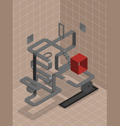 labyrinth look for a way vector image