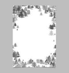 modern christmas design page template - blank vector image vector image
