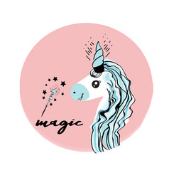 unicorns are real quote vector image vector image