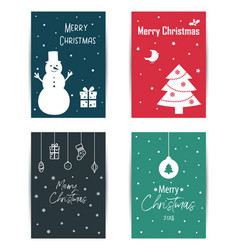 a set of colored christmas cards vector image vector image