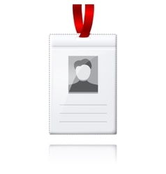 Blank vertical badge holder with place for vector image vector image