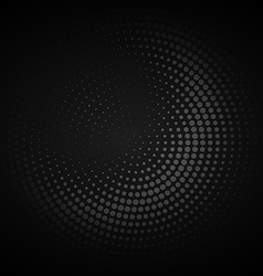 Dark circular halftone background vector