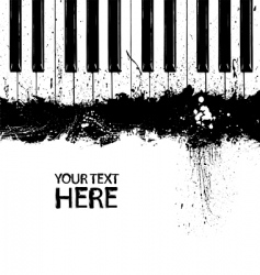 grunge piano keys vector image vector image