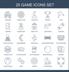 25 game icons vector