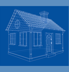 A small house with shingles roof vector