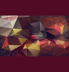 abstract multi red polygonal space background vector image