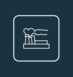 air pollution icon line symbol premium quality vector image