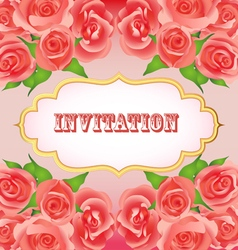 background festive invitation vector image