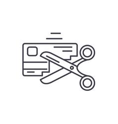 bad credit history line icon concept bad credit vector image