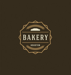 bakery logo or badge vintage vector image