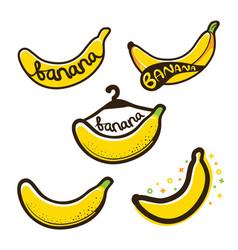 Bananas label logo vector
