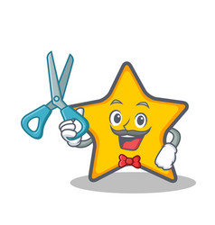 Barber star character cartoon style vector