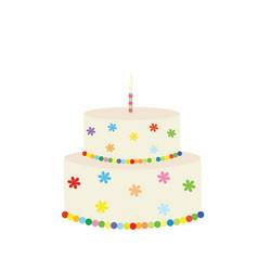 big colorful birthday cake vector image