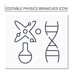 Biophysics line icon vector