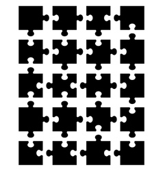 black puzzle 20 vector image