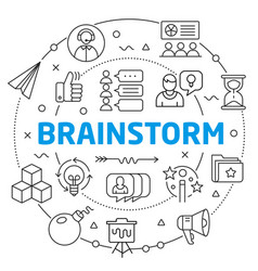 brainstorm linear vector image