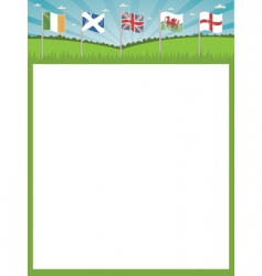 British Isles and Ireland flag vector image