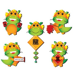 chinese dragon cartoon vector image vector image