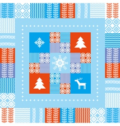 Christmas patchwork background vector
