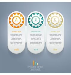 Color gears infographic number options vector