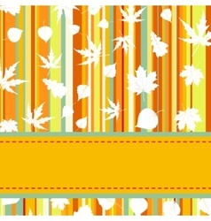 Colorful with stripes maple leaves EPS 8 vector