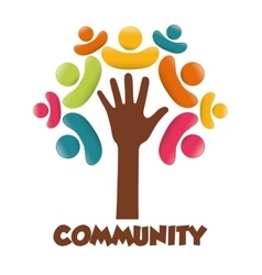 Community people graphic vector image