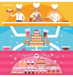Confectionery Banners Set vector