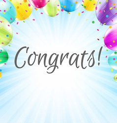 Congrats Card vector