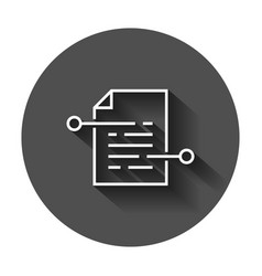 document paper icon in flat style terms sheet vector image