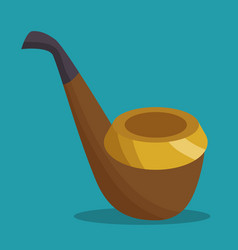 elf pipe isolated icon vector image