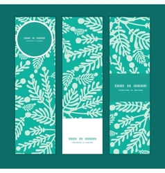 Emerald green plants vertical banners set vector
