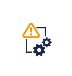 error report icon on white vector image