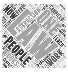 famous law attraction people word cloud concept vector image