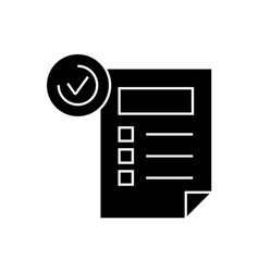 features sheet black concept icon features vector image