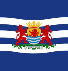 Flag of zeeland netherlands vector